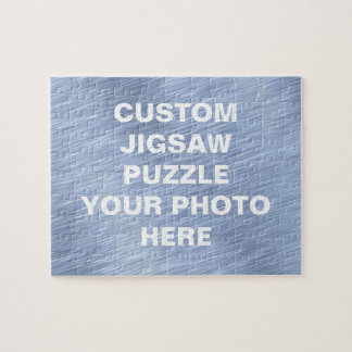 Blue Brushed Metal Textured Puzzle