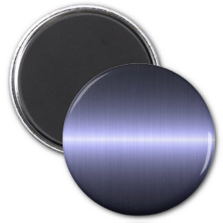 blue brushed strong 2 inch round magnet