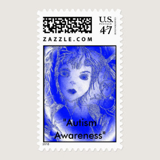 "Blue Bubble, ""Autism Awareness"" Postage"