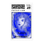 "Blue Bubble, ""Autism Awareness"" Postage Stamp"