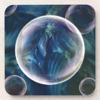 Blue Bubble Drink Coaster