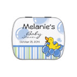 Blue Bubble Ducky Jelly Belly Candy Tin