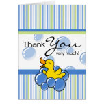 Blue Bubble Ducky Thank You Notes Greeting Cards