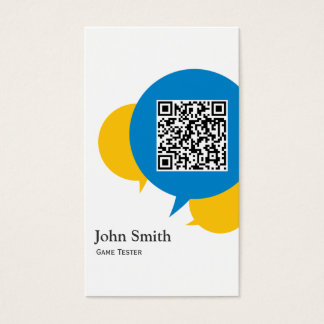 Blue Bubble Game Testing Business Card