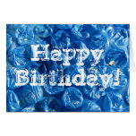Blue Bubble Texture, Happy Birthday! Cards