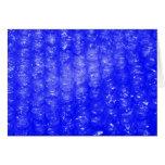 Blue Bubble Wrap Effect Card