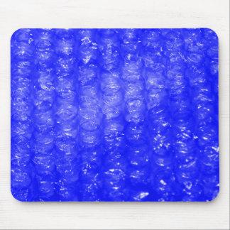 Blue Bubble Wrap Effect Mouse Pad