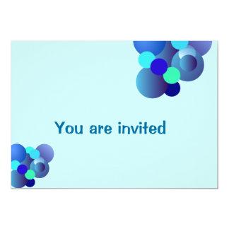 blue Bubbles Birthday Invitation Card