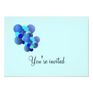 Blue Bubbles Birthday Party Invitation