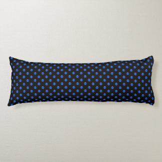 Blue Bubbles Black Body Pillow