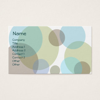 Blue Bubbles Business Card