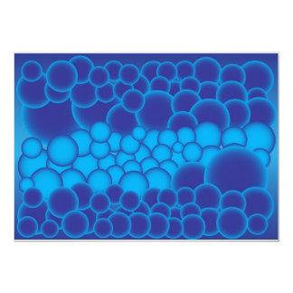 Blue Bubbles Card