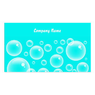 Blue Bubbles, Company Name Double-Sided Standard Business Cards (Pack Of 100)