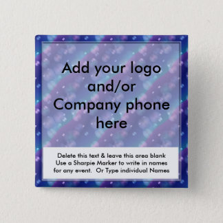 Blue Bubbles Event Business Name Badges Tags Pins