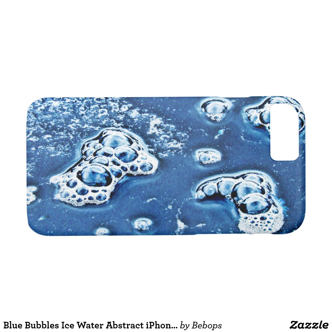 Blue Bubbles Ice and Water Abstract iPhone 7 Case