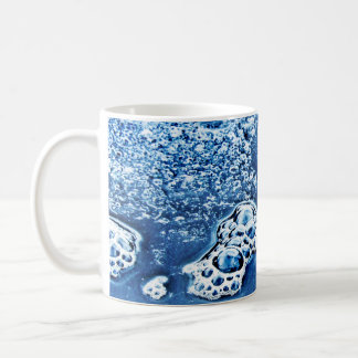 Blue Bubbles Ice and Water Abstract Mug