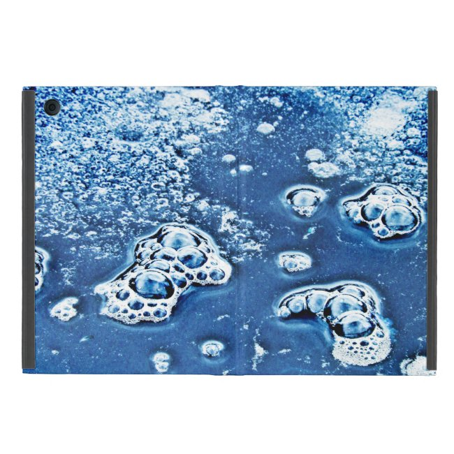 Blue Bubbles Ice Water Abstract iPad Mini Case