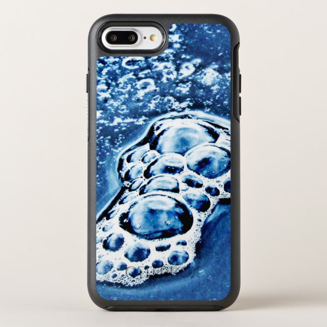 Blue Bubbles Ice Water Abstract iPhone 7 Plus Case