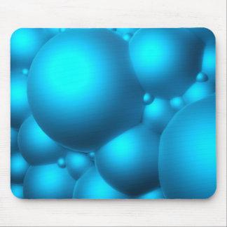 Blue Bubbles Mouse Pad