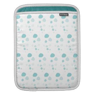 Blue Bubbles Polka Dots iPad Sleeve