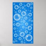 Blue Bubbles Posters