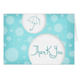 blue- bubbles thank you greeting cards