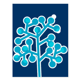 Blue Bubbletree Postcard