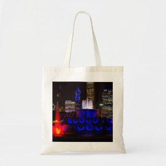 Blue Buckingham Fountain Tote Bag