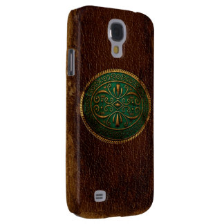 Blue Buckled Leather Galaxy S4 Cover