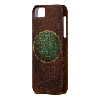 Blue Buckled Leather iPhone SE/5/5s Case