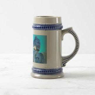 blue buddha beer stein