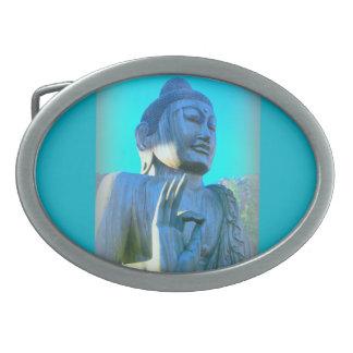 blue buddha belt buckle