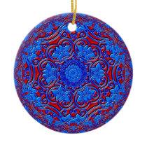Blue Buddha Ceramic Ornament