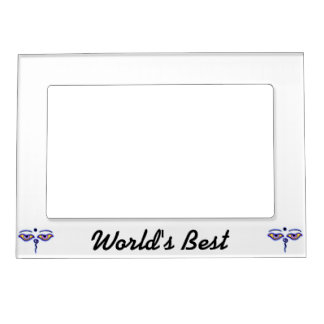 Blue Buddha Eyes.png Magnetic Picture Frame