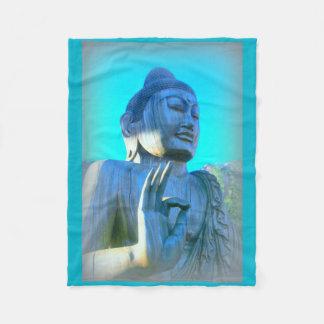 blue buddha fleece blanket