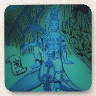 Blue Buddha Love Cork Coasters