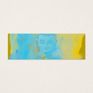 blue buddha mini business card
