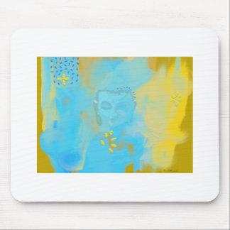 blue buddha mouse pad
