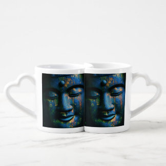 Blue Buddha Om Peace Coffee Mug Set