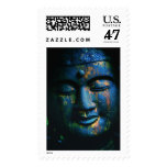 Blue Buddha Om Peace Postage