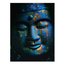 Blue Buddha Om Peace Postcard