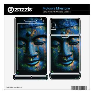 Blue Buddha Om Peace Motorola Milestone Decal