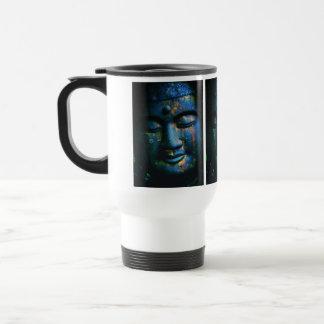 Blue Buddha Om Peace Travel Mug