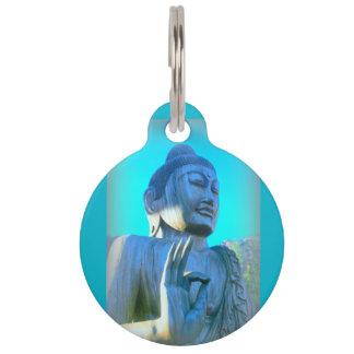 blue Buddha Pet Name Tag