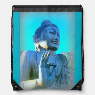 blue buddha cinch bags