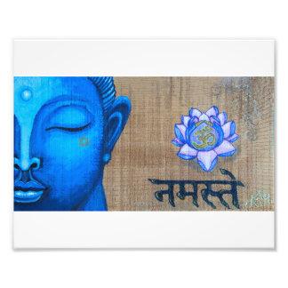 Blue Buddha Print Photographic Print