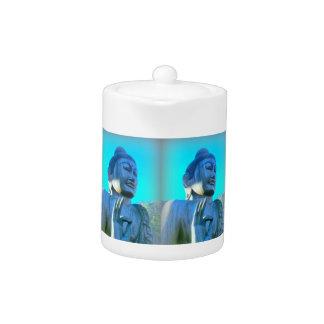 blue buddha teapot