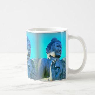 blue buddhas coffee mug