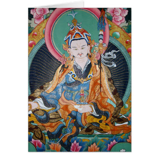Blue Buddhist Thangka Painting Photo Card