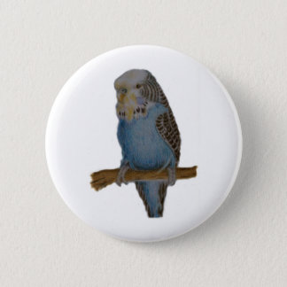 Blue budgie art button